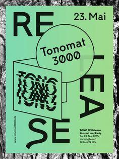 Tonomat3000 Release Party Poster #Tono #Tonomat3000 #EP #Release #Party #Poster