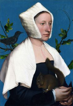 Portrait of a Lady with a Squirrel and a Starling, Hans Holbein