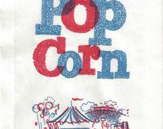Image result for vintage popcorn bag