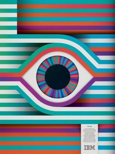 Design Envy · IBM THINK Exhibit: Carl DeTorres #lines #ibm #eyeball