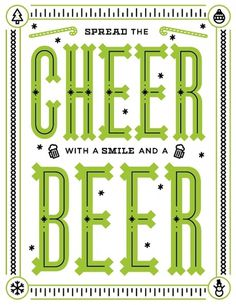 Bryan Couchman #cheer #type #beer #typography