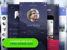Free iPhone UI Kit PSD