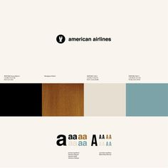 Experimental ID for American Airlines on the Behance Network #logo #color