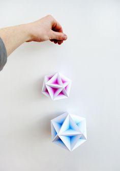 geometric gradient models // by minieco #gradient #paper #colour #shop window #hay