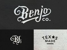Benjo Logo Pieces by Amy Hood #drawn #hand #typography