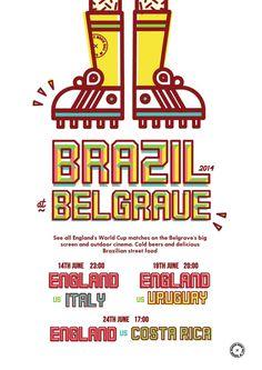 Brazil 2014 by Lucas Jubb #offset #print #world #street #jubb #brazil #cup #lucas #typography