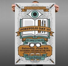 okaybeta™ / work / aiga portfolio day 2010 #college #illustration #poster