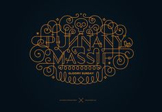 ornamental lettering on Behance