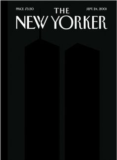 MatterPrinted › Curated covers of Printed Matter, The New Yorker September 24, 2001 #illustration #cover #magazine #black and white #the n