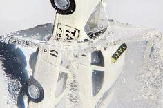 """Mecna """"Laska"""" (Album Cover) on Behance #mecna #ice #taxi"""