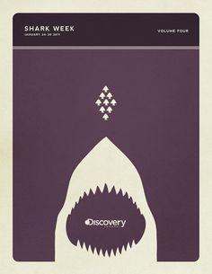 Minimal Poster Design - Shark Week on the Behance Network #colros #retro #sharks #posters #vintage