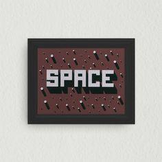 SPACE Screen Printed Illustration by Eighteen32 on Etsy #3d #lettering #print #space #screen #illustration #stars #poster #outer #framed