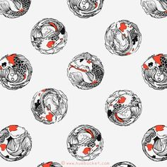 FFFFOUND! | Polka Koi | Flickr - Photo Sharing! #illustration