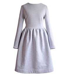 "DRESÃ""WKA (40) #clothing #simple #fashion #dress #grey"