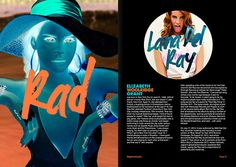 Mag layout inspired from negative Mac. Try on your Mac:Â Ctrl Opt Cmd 8 #pages #pop #negative #del #lana #rey #rad #layout #magazine