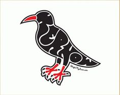 alright my luver #alright #cornwall #my #luver #kernow #illustration #chough