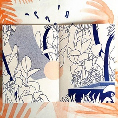 """Tali Bayer auf Instagram: """"My contribution for @coloramaclubhouse 9. Based on a poster by @bu_tuer 💙 Published by @coloramaprint #zine #risoprint #jungle #drawing…"""""""