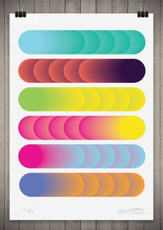 Image of Cylindrical Colour Series 1 111cm x 76cm #geometry #color #gradient #circle