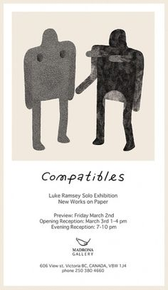 Compatibles Solo Exhibition | Luke Ramsey #illustration