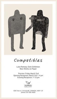 Compatibles Solo Exhibition | Luke Ramsey #illustration