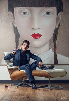 RAWZ - Tino Schneider #interior #mural #chair #lips #design #furniture #beauty