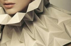 Paper props for fashion shooting in King Power Magazine – July 2010. #sculpture #tessellation #origami #fashion #paper