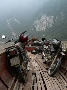 Minsks in the Đàriver gorge | Flickr - Photo Sharing! #adventure #bikes #photography