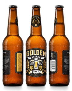 Shepherd Golden Fleece Bottles #beer #label #bottle