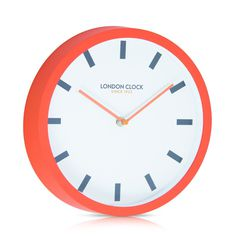 London Clock Company 'POP' Wall Clock Orange, D25cm x W4cm