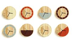 primary clock —david weatherhead #wood #clock #minimal #product