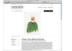 Frieze Art Fair for Nowness : damienflorebertcuypers.com #digital #illustration #portraits