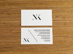 NK · Norske Kunsthåndverkere on Branding Served #logotype #card #identity #business