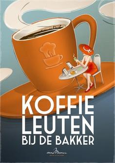 Poster 'koffieleuten' for Bakker van Maanen by The Ad Agency