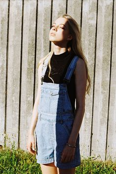 kent andreasen 15 #girl #photography #contrast #overalls #shadow
