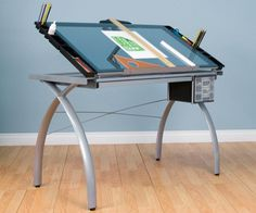 With a sleek look and ample storage, drawing desk that invites you to work!
