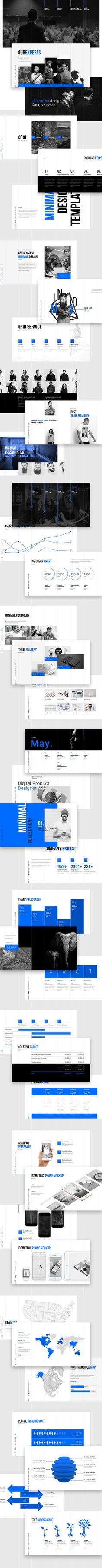Grids_Minimal Presentation Template on Behance