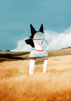 Mysterious Anthropomorphic Illustrations of Dogs, Foxes, and Deer by Jenna Barton | Colossal