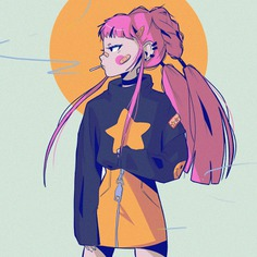 a take on Daena by phlomux. Anime illustrations