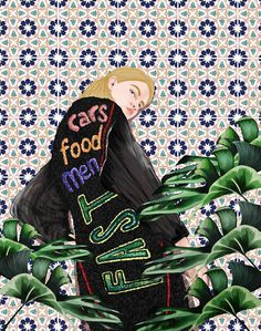Girls & Botanical Illustration Series by Stefania Tejada