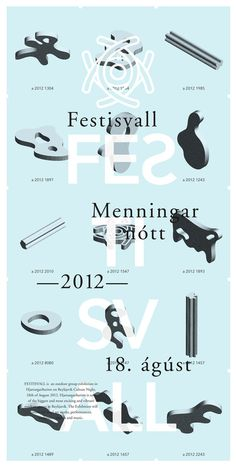 Festisvall 2012 #festival #design #graphic #arts #digital #poster #art
