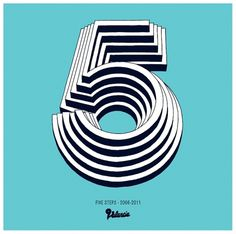 5 years - NEW : D.O.C.S #logotype #font #lettering #logo #five #number #type