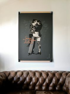 Serge & Jane art screenprint - Dezzig