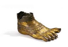 Right foot of a monumental Buddhist figure