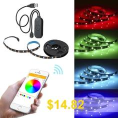 LED #5050RGB #Wifi #Smart # #Strip #Lights #Work #With #App #& #Alexa #Assistant #- #BLACK