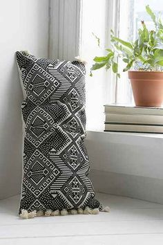 Magical Thinking Black + White Rectangle Pillow, Urban Outfitters