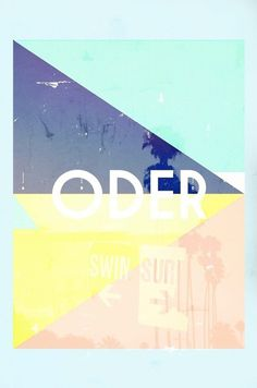ODER SURFEN on the Behance Network #design #art #typography #surf #digital #roscoflevo #oder