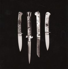 http://welcomeback.tumblr.com/ #knives #photography #blackandwhite #knife
