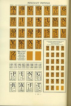 Sidney Gaunt designed the Pencraft family for BB #typography