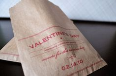 Twig & Thistle » DIY Valentine's Day Brownie Bags #straw #design #brownie #photograph #milk