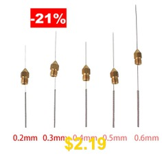 3D #Printer #Nozzle #Cleaning #Kit #Drill #Bits #Tool #For #Makerbot #And #Creality #CR-10s,Anet #10 #PCS #(0.2-0.6mm) #- #SILER
